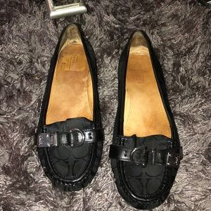 Coach flats black shoes